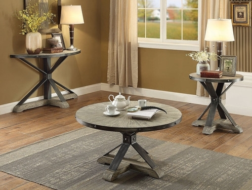 Modern Antique Coffee Table, Black Top Within Gunmetal Coffee Tables (Photo 34 of 40)