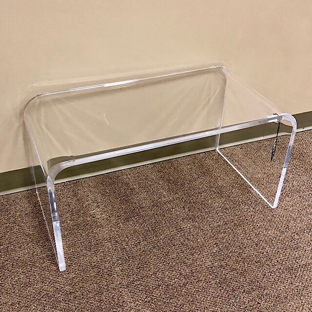 Modern Clear Acrylic Coffee Table | Consign To Design, Llc Within Modern Acrylic Coffee Tables (Image 28 of 40)
