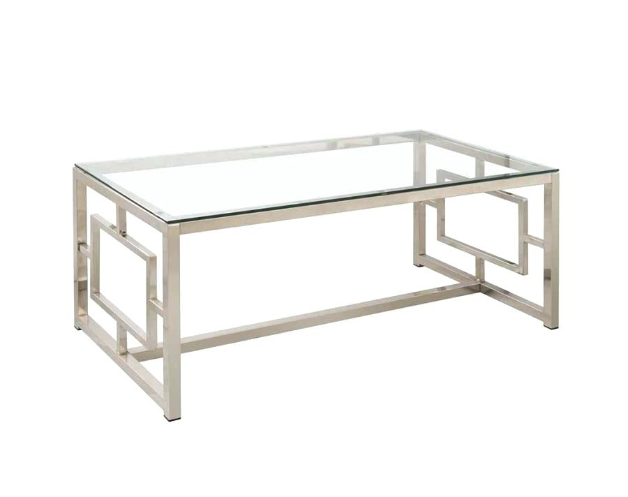 Modern Glass Coffee Table Occasional Group Contemporary Metal Coffee For Rectangular Brass Finish And Glass Coffee Tables (Image 23 of 40)