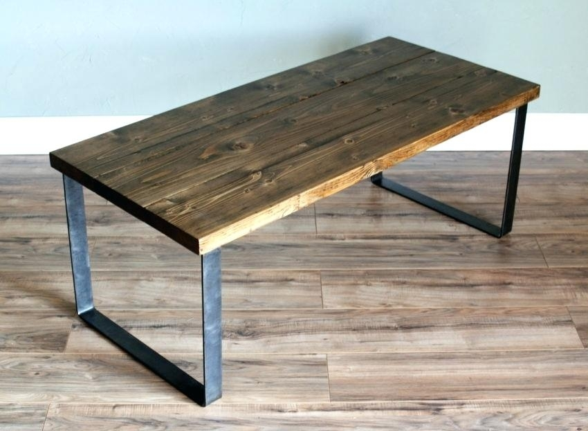 Modern Industrial Coffee Table Modern Industrial Square Coffee Table For Modern Rustic Coffee Tables (Image 20 of 40)