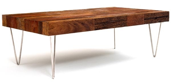 Modern Meeting Rustic Coffee Table – Woodland Creek Furniture Pertaining To Modern Rustic Coffee Tables (View 8 of 40)