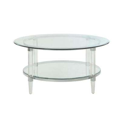 Modern – Round – Silver – Coffee Tables – Accent Tables – The Home Depot Inside Inverted Triangle Coffee Tables (Photo 21 of 40)