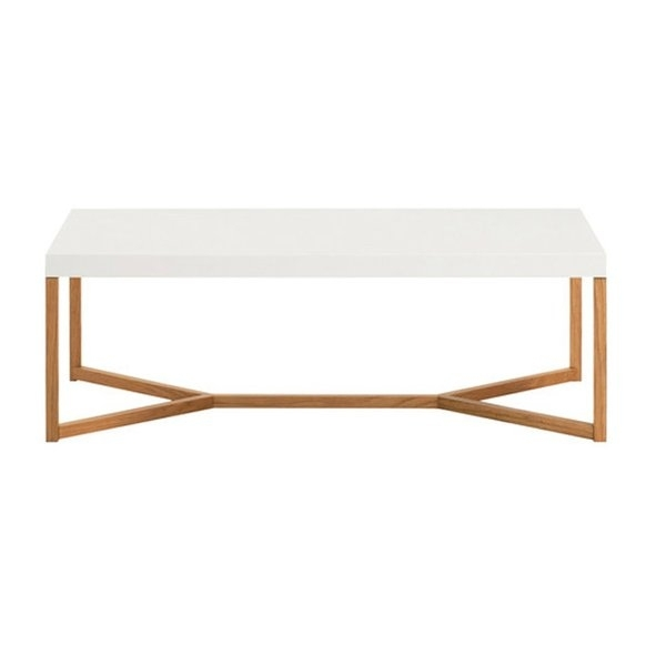 Modern White Coffee Tables | Allmodern Regarding Element Ivory Rectangular Coffee Tables (View 12 of 40)