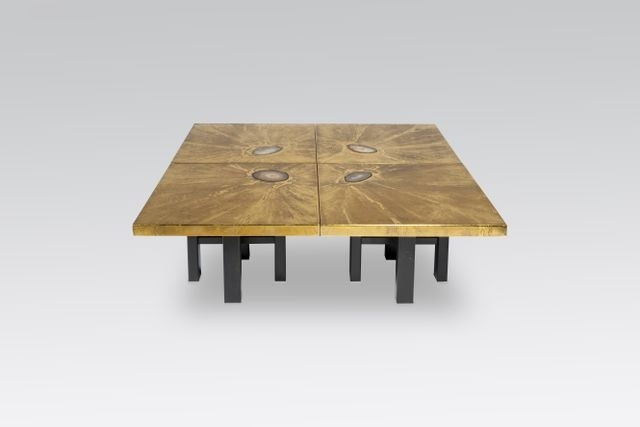 Modular Coffee Tables With Brass Engravings & Agate Inlayslova Within Modular Coffee Tables (View 39 of 40)