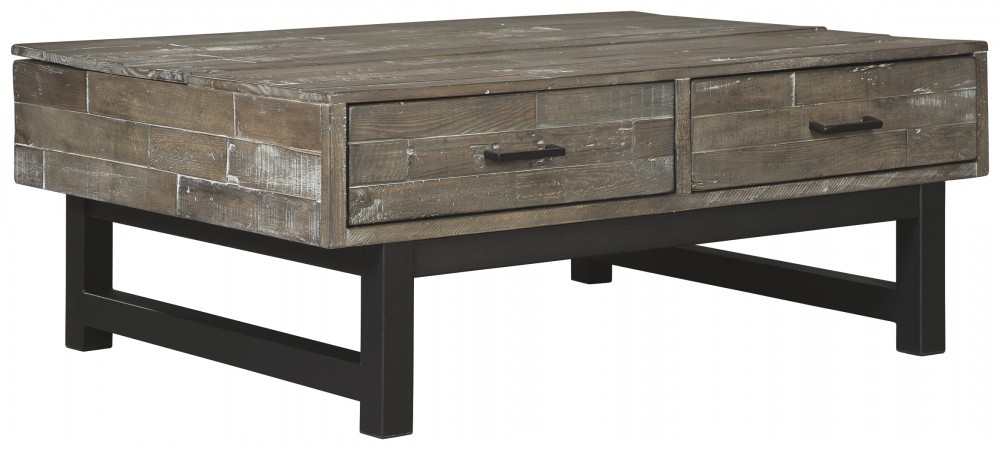 Mondoro – Grayish Brown – Lift Top Cocktail Table | T891 9 With Regard To Tillman Rectangle Lift Top Cocktail Tables (Image 25 of 40)