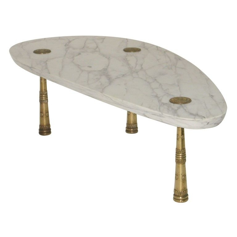 Monteverdi Young, Mid Century Marble Cocktail Table With Bronze Legs For Shelter Cocktail Tables (Photo 13 of 40)