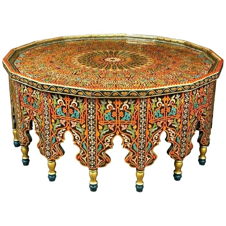 Moroccan Furniture For Sale Furniture Furniture Fabulous Coffee With Round Carved Wood Coffee Tables (Image 25 of 40)