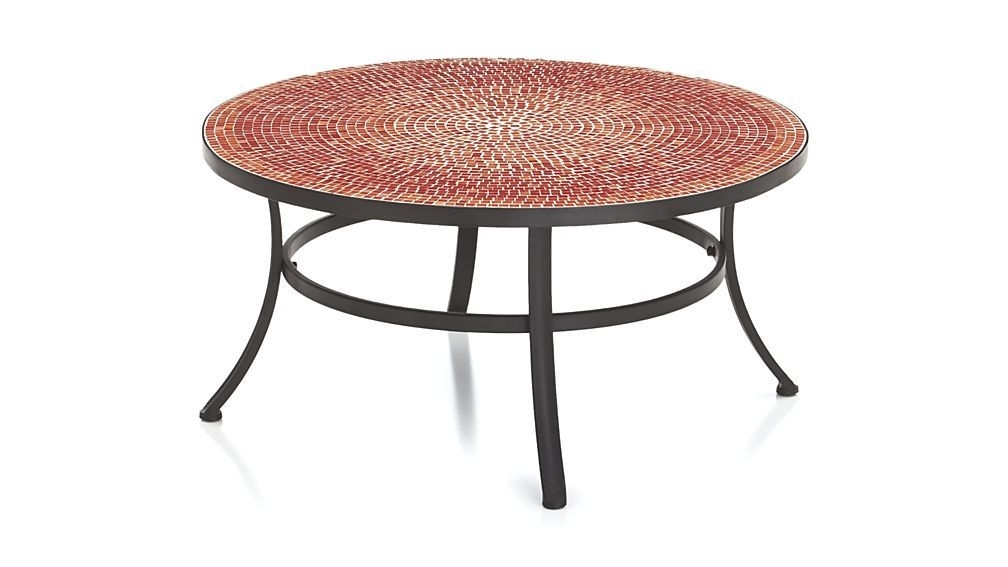 Mosaic Red Coffee Table | Crate And Barrel | Outdoor Space Intended For Cody Expandable Cocktail Tables (View 13 of 40)