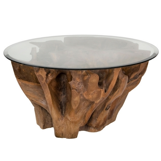 Natura Root Round Coffee Table – Condo Size | Products | Style In Form In Live Edge Teak Coffee Tables (View 29 of 40)