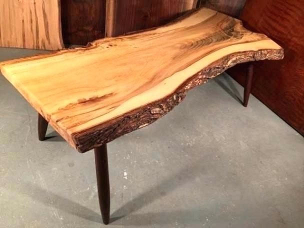 Natural Edge Wood Coffee Table Coffee Tables Live Edge Wood Coffee Within Live Edge Teak Coffee Tables (View 15 of 40)