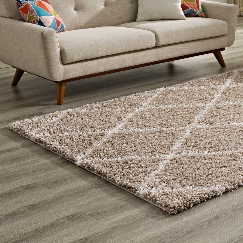 Naveen Diamond Lattice Beige/ivory Area Rug | Joss & Main Within Naveen Coffee Tables (View 10 of 40)