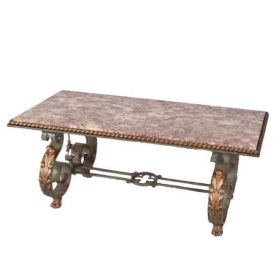 Negrel Antiques | Art Deco Coffee Table With Marble Top With Regard To Antiqued Art Deco Coffee Tables (Image 32 of 40)