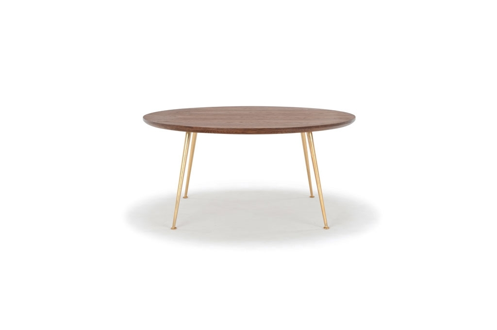 Nelly, Coffee Table, Smoked Oak Top, Metal Matt Brass Legs In Smoked Oak Coffee Tables (View 31 of 40)