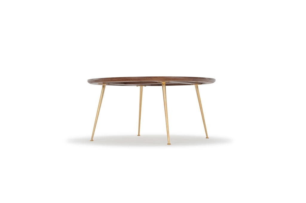Nelly, Coffee Table, Smoked Oak Top, Metal Matt Brass Legs Pertaining To Smoked Oak Coffee Tables (Photo 24 of 40)