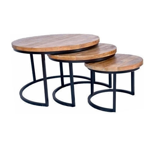 Nesting Coffee Table Set, Size/dimension: 58X58X38 Cm And 43X43X33 Inside Set Of Nesting Coffee Tables (View 38 of 40)