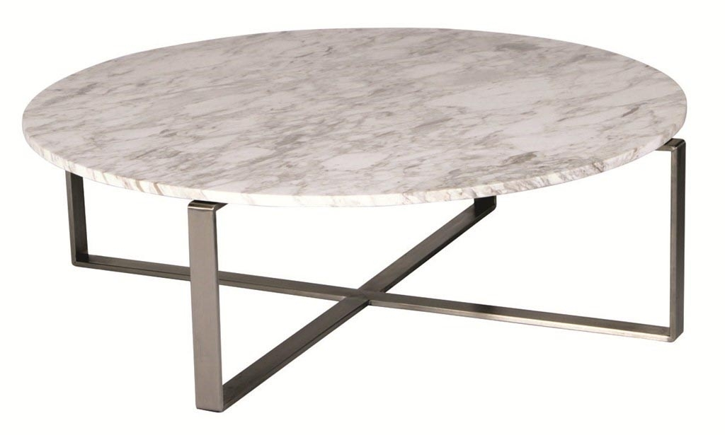 Nice Round Marble Top Coffee Table With Smart Round Marble Top With Regard To Smart Round Marble Top Coffee Tables (Image 19 of 40)