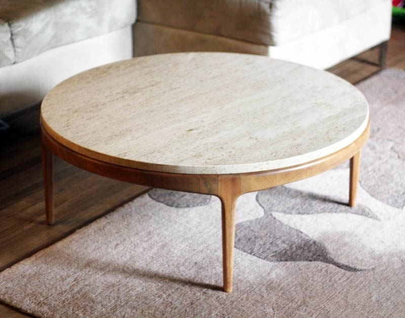 Nice Round Stone Coffee Table With Charming Round Stone Top Coffee For Stone Top Coffee Tables (Image 18 of 40)