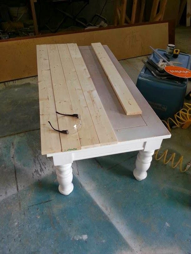 Nifty Thrifty Momma: Farmhouse Style Coffee Table | Inspiration In In Large Scale Chinese Farmhouse Coffee Tables (View 17 of 40)