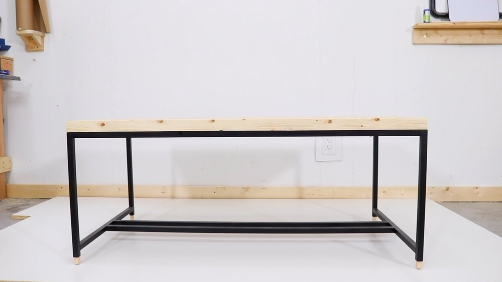 No Weld Coffee Table — Modern Builds With Regard To Pine Metal Tube Coffee Tables (Photo 15 of 40)