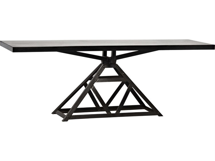Noir Furniture Parker Metal 84'' X 24'' Rectangular Console Table In Parker Oval Marble Coffee Tables (Photo 24 of 40)