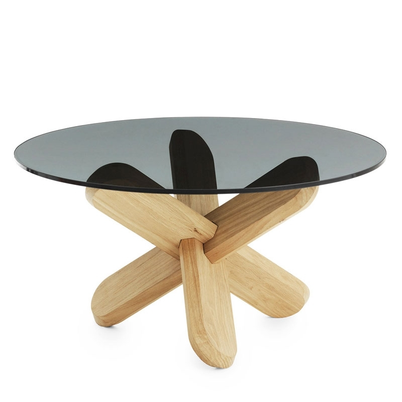 Normann Copenhagen – Ding Oak Coffee Table With Smoked Glass | Panik Inside Smoked Oak Coffee Tables (Image 31 of 40)