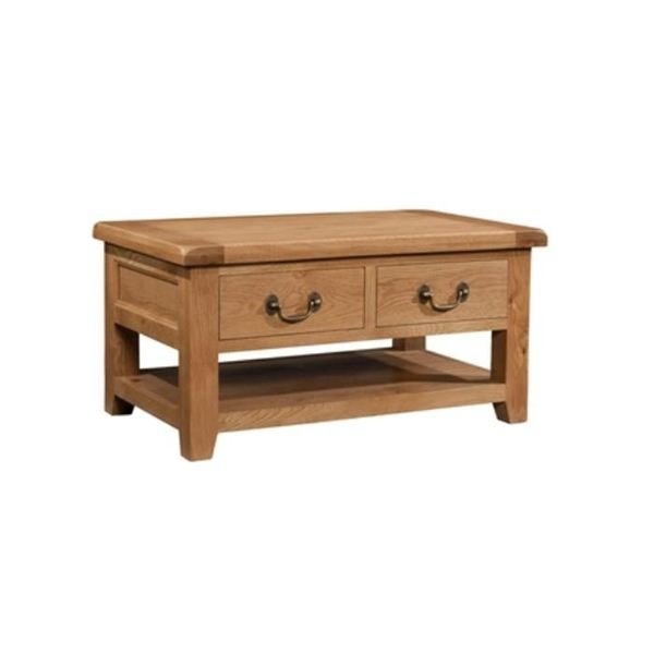 Old Mill Oak 2 Drawer Coffee Table (View 26 of 40)