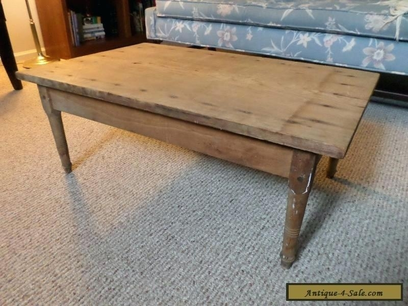 Old Wood Coffee Table – Campfirefilms Regarding Vintage Wood Coffee Tables (Image 15 of 40)