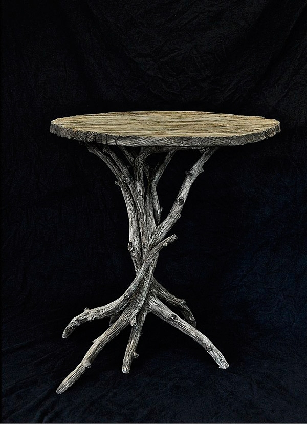 One Of A Kind Concrete Chandeliers & Faux Bois Furniture | Concrete Regarding Faux Bois Coffee Tables (View 31 of 40)