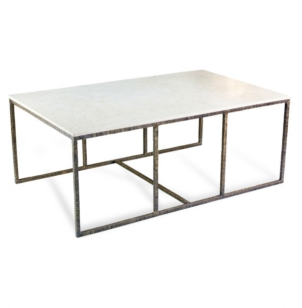 Open Storage Metal Framing Coffee Table Design Come With White Throughout Modern Marble Iron Coffee Tables (Image 32 of 40)