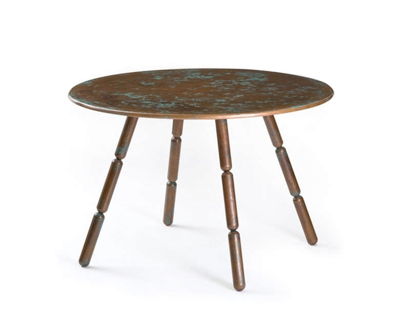 Original Design Table / Copper / Round – Verdigris – Freshwest Inside Flat Black And Cobre Coffee Tables (Image 29 of 40)