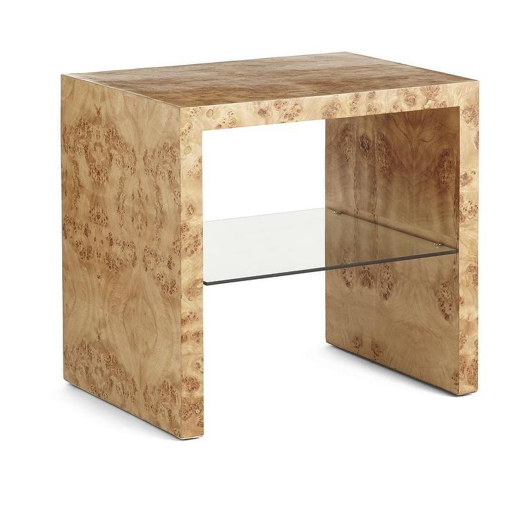 Oslo Burl Wood Veneer Side Table Within Oslo Burl Wood Veneer Coffee Tables (Image 29 of 40)