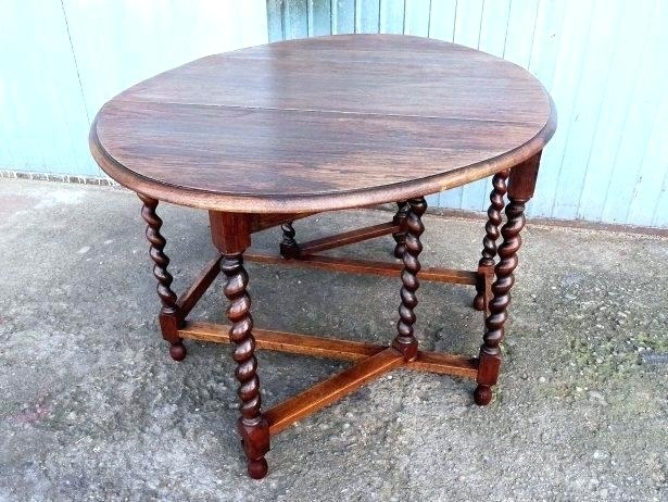 Oval Gateleg Table Barley Twist Coffee Table Antique Oak Barley With Regard To Barley Twist Coffee Tables (View 23 of 40)