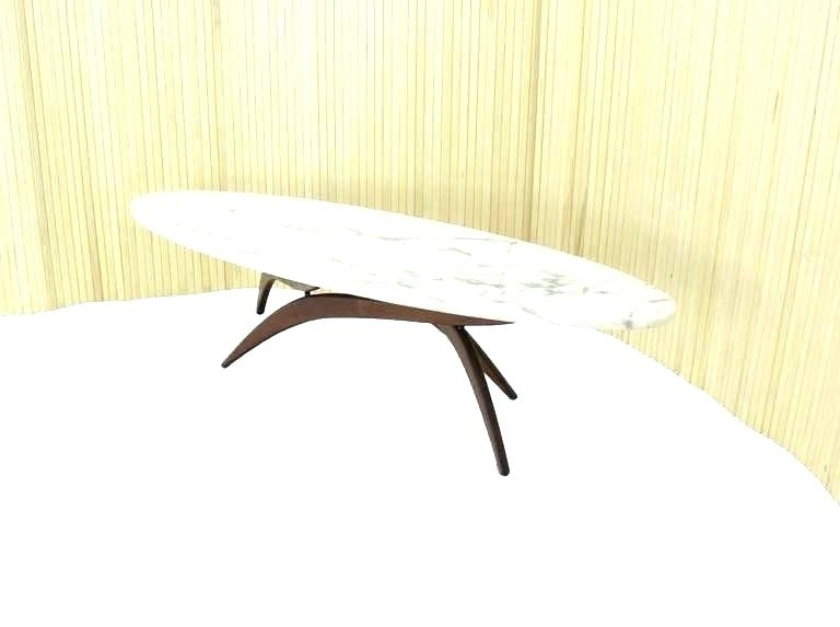 Oval Marble Coffee Table Oval Marble Table Mid Century Modern Marble Throughout Mid Century Modern Marble Coffee Tables (Image 32 of 40)