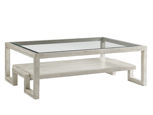 Oyster Bay Saddlebrook Rectangular Cocktail Table | Lexington Home Inside Element Ivory Rectangular Coffee Tables (Image 26 of 40)