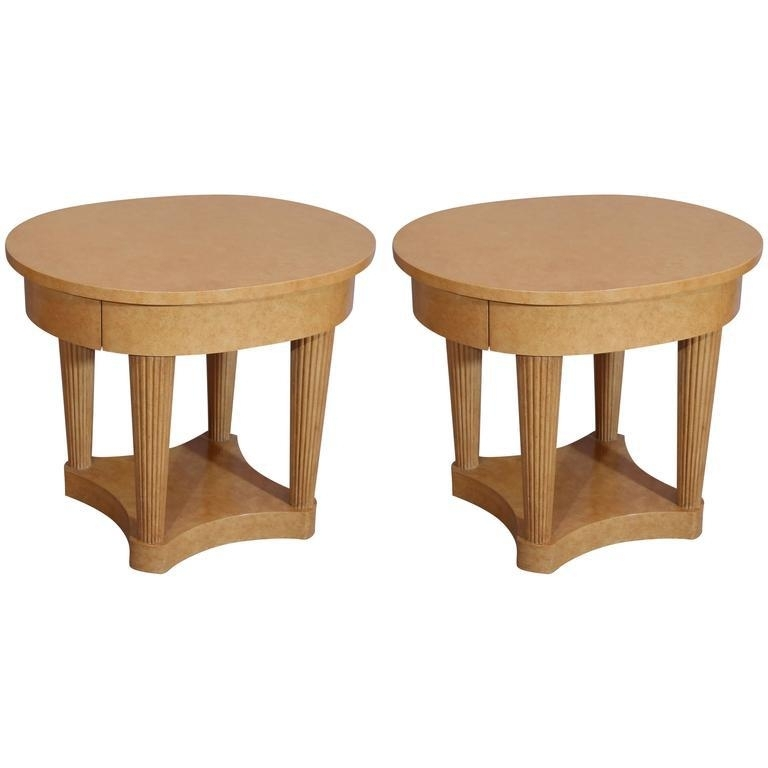 Pair Of Custom Made Faux Bois Charles X Style Side Tables Or In Faux Bois Coffee Tables (View 37 of 40)
