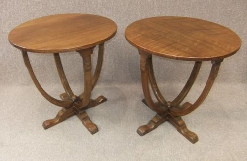 Pair Of Solid Oak Art Deco Side Tables – Antiques Atlas With Antiqued Art Deco Coffee Tables (Photo 6 of 40)
