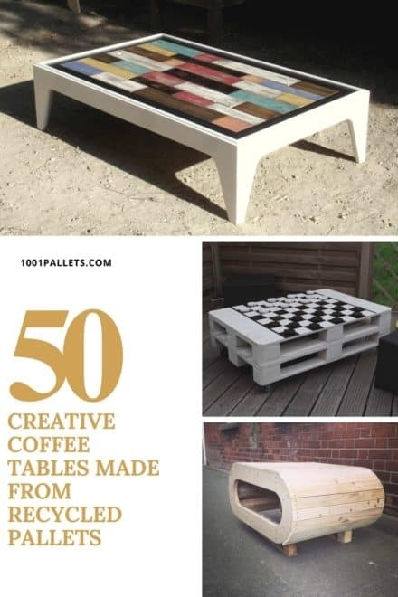 Pallet Coffee Table • Diy Plans • 1001 Pallets Inside Stack Hi Gloss Wood Coffee Tables (Photo 33 of 40)