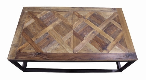 Parquet Wood & Metal Coffee Tables – Shine Your Light With Regard To Parquet Coffee Tables (Image 31 of 40)