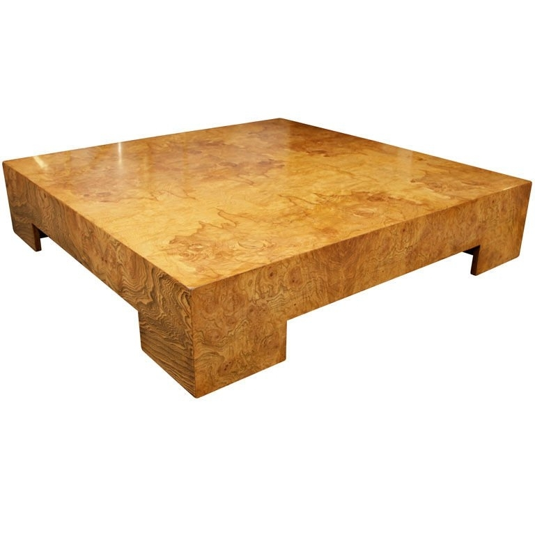 Parsons Style Square Burl Wood Coffee Tablemilo Baughman At With Pertaining To Oslo Burl Wood Veneer Coffee Tables (Photo 10 of 40)