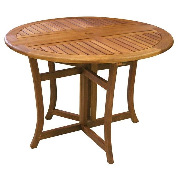 Patio Dining Tables You'll Love | Wayfair With Regard To 33 Inch Industrial Round Tables (Image 32 of 40)