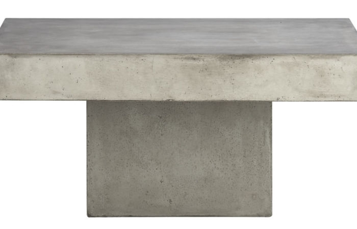 Patio Gardens Rectangular Concrete Outdoor Materail Cement Top Inside Element Ivory Rectangular Coffee Tables (Photo 21 of 40)