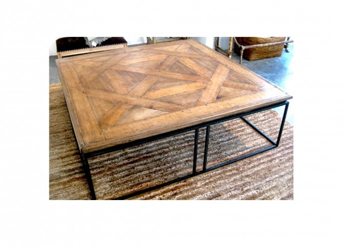 Patrick Sutton Collection – Custom Oak Coffee Table With Iron Base Pertaining To Waxed Metal Coffee Tables (Photo 39 of 40)