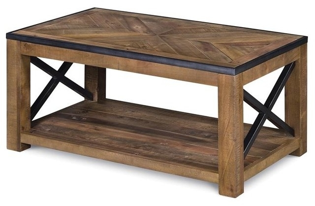 Penderton Wood Rectangular Cocktail Table, Small – Industrial Intended For Kai Small Coffee Tables (Image 27 of 40)