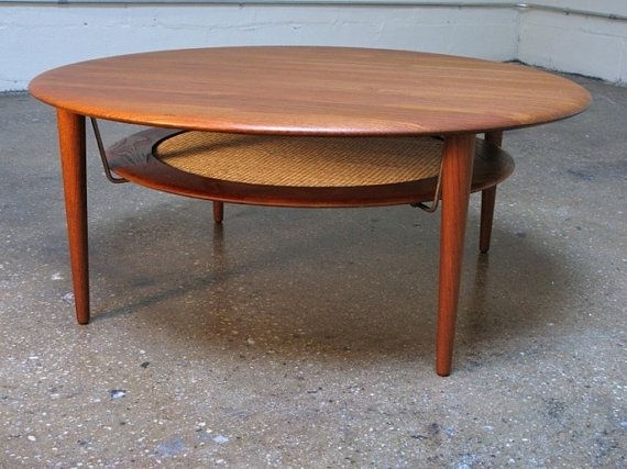 Peter Hvidt Round Teak Coffee Table | Mathilde's Attic | Pinterest For Round Teak Coffee Tables (Image 18 of 40)