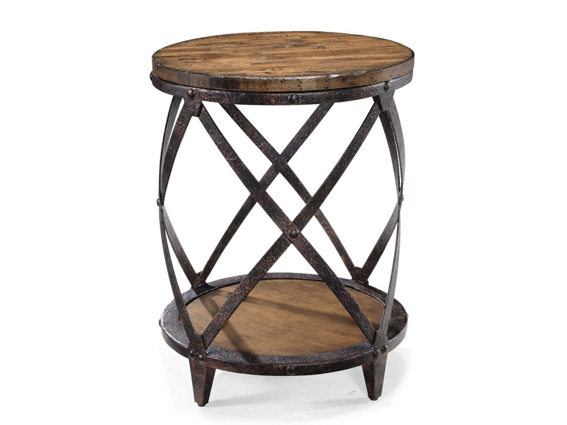 Pinebrook Round Accent Table | Brandon House Throughout Natural Pine Coffee Tables (Image 28 of 40)