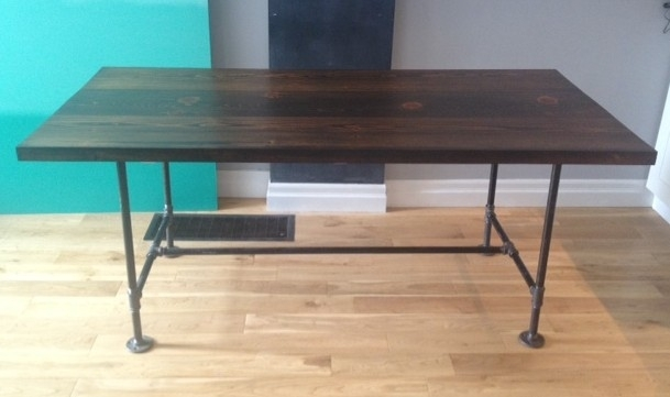 Pipe & Wood Table V2 – Storefront Life Regarding Pine Metal Tube Coffee Tables (Photo 12 of 40)