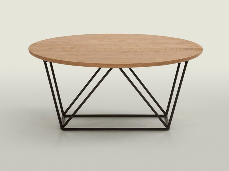 Pma Furniture & Design | Wire Coffee Table Oak Intended For Swell Round Coffee Tables (Image 22 of 40)