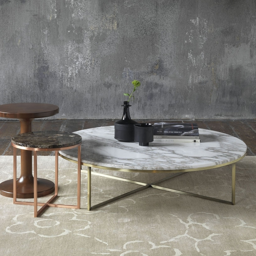 Porto Round Marble Coffee Table Regarding Iron Marble Coffee Tables (Image 29 of 40)
