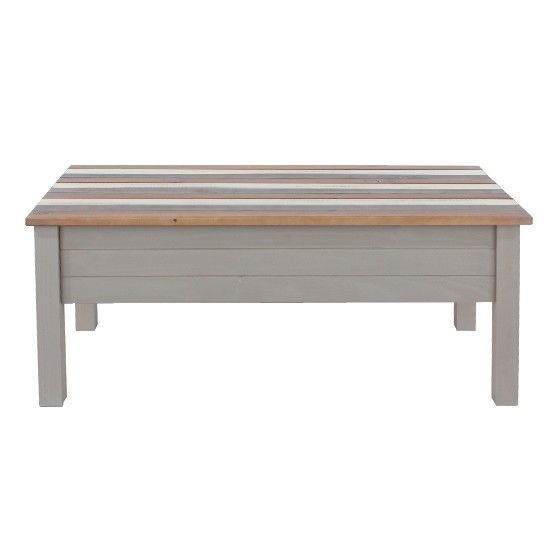Premium Corona Vintage Coffee Table With White, Grey And Natural Within Natural Pine Coffee Tables (Image 29 of 40)