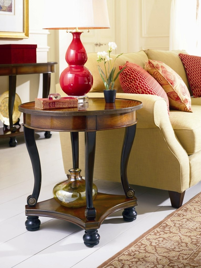 Prescott Round Lamp Table | End Tables Pertaining To Prescott Cocktail Tables (Image 27 of 40)